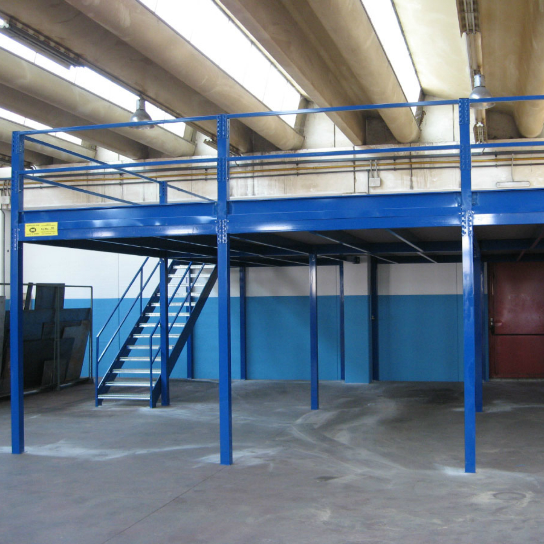 Soppalco Industriale Blu ral 5010